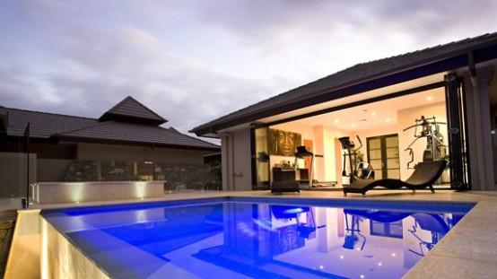 Farmhouse designs in Australia-swimming pool