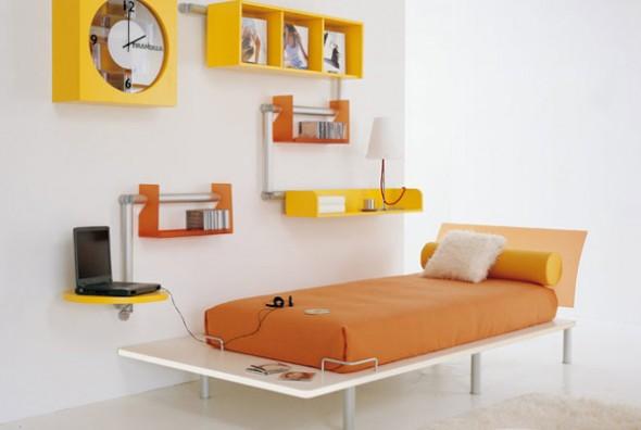 bedroom ideas minimalis yellow girls