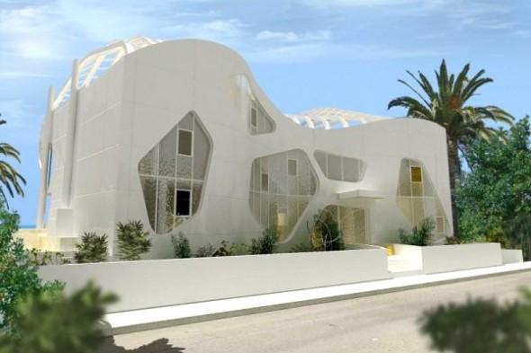 The Luxury Villa With Impressive Construction-enterance