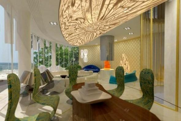 dining room of luxury villa
