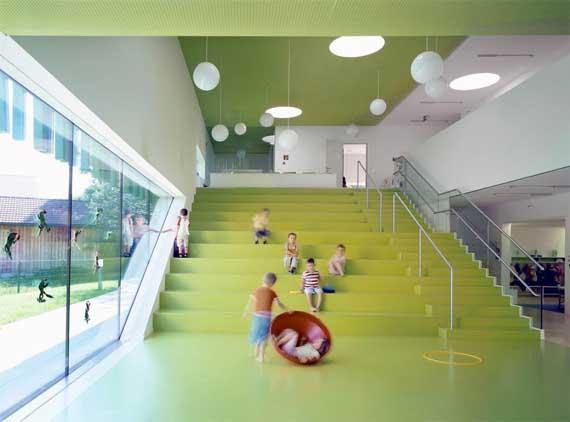 playground area design Kindergarten, Modern Kindergarten Sighartstein by kadawittfeldarchitektur