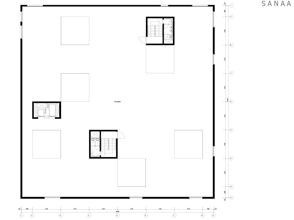 Roof Plan - Zollverein School