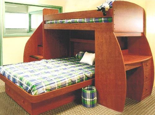 Awesome Lea Industries Getaway Study Loft Bed With Desk And Hutch Bedroom Largest Home Design Picture Inspirations Pitcheantrous