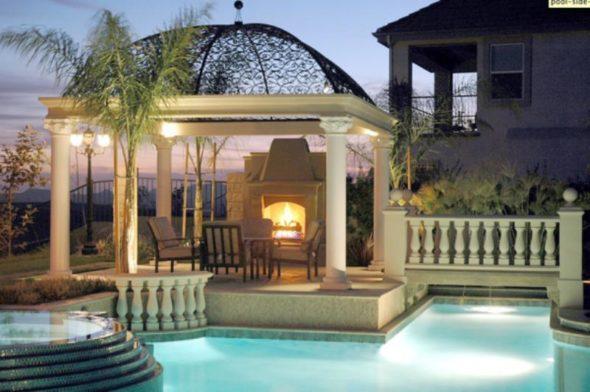 Luxury Gazebo Outdoor Pool Ideas