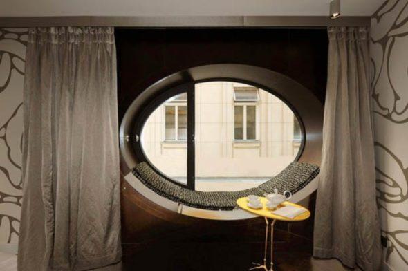 Oval Windows Detail - Topaz Hotel in Vienna
