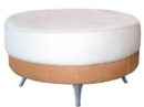 A Wicker Ottoman Round Wicker Chair