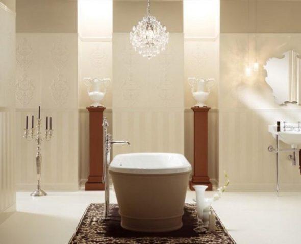 Bathtub Area Lit Luxuriously