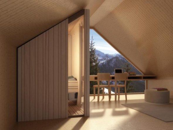 Elegantly Done Sauna in a Loft