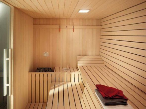 Interior of an Excellent Sauna