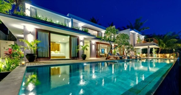 Malimbu Cliff Villa - Beautiful Exeterior Lighting