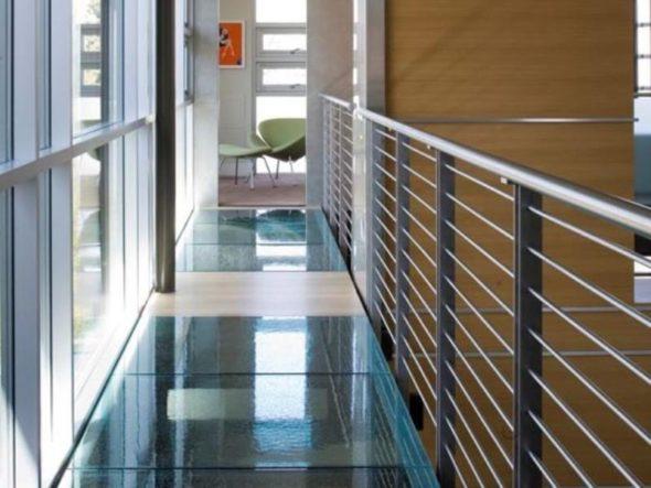 Modern Luxury House Design Glass Bridge