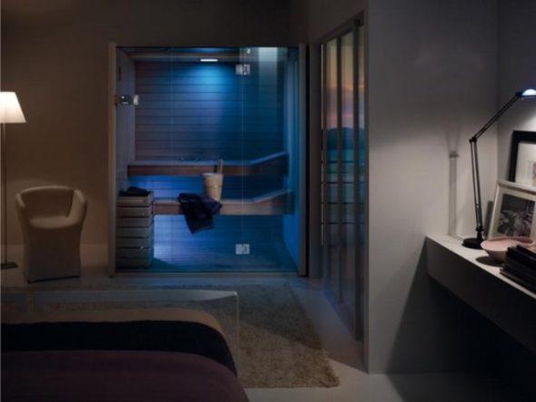 Night Time of Sauna