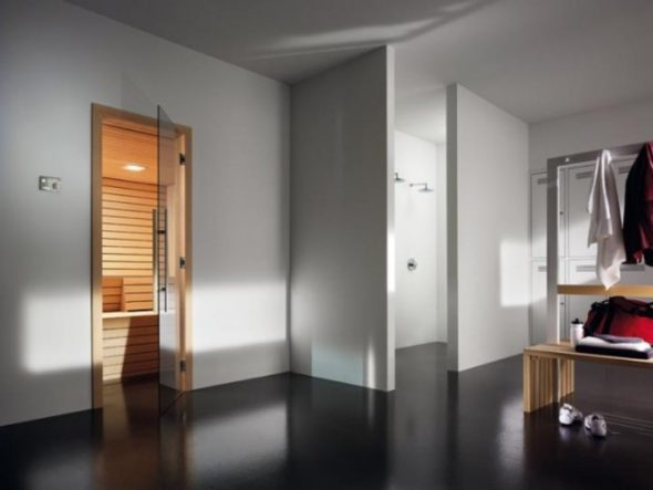 Sauna with Adjacent Bathroom