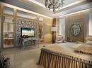 Media Unit Floral Accent Wall Decor Bedroom