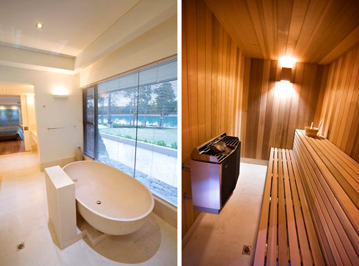 Farmhouse designs in Australia-bathroom and sauna