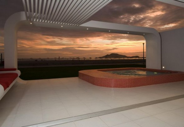 Villa Design in Peru-sunset