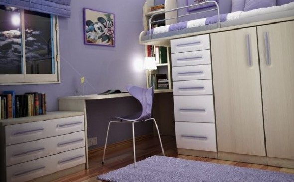 small space teenage room