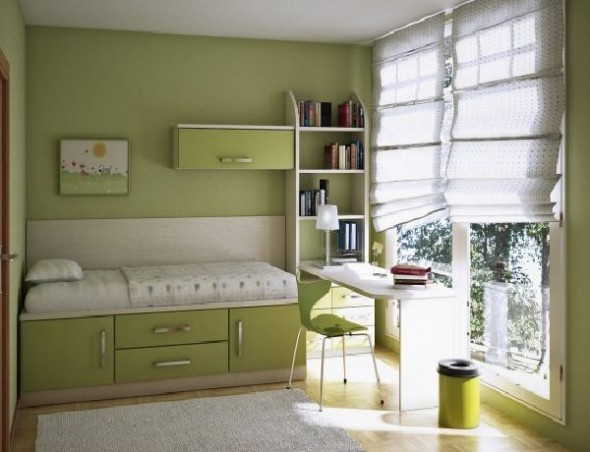 beautiful green teen room