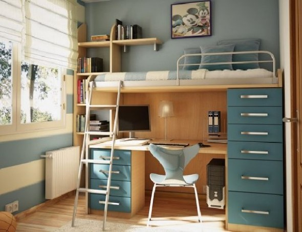 modern study teenage room