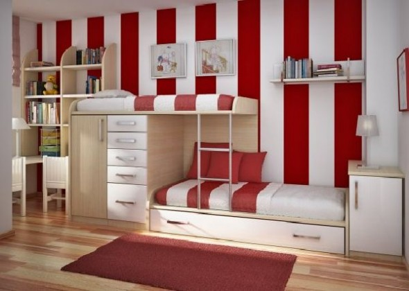 vertical colour teen room