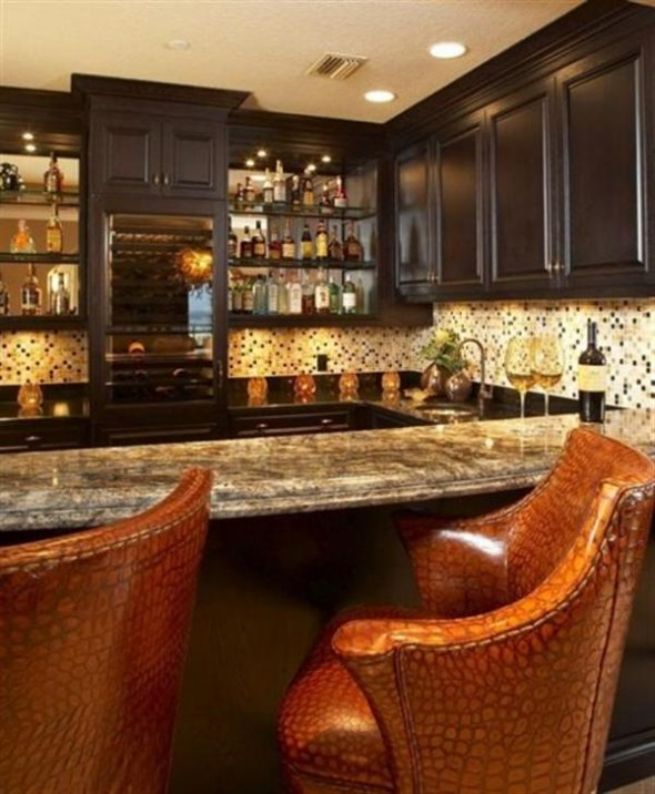 Home Bar Decorating Ideas: Beautiful Mini Bar Design For Home