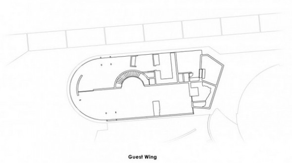The Elrod House by John Lautner guest wing plans from The Bond's Movie