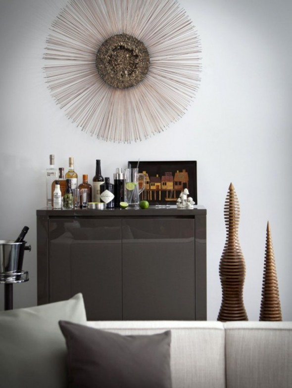 artistic home bar decor