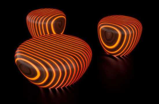 chair Giancarlo, Beautiful Modern Wooden Furniture chair with light by Giancarlo Zema