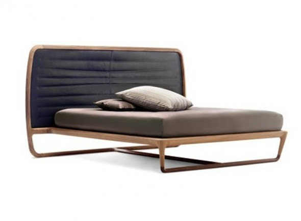 beautiful Walnut Beds Balanced and harmonious from Ceccotti Collezioni
