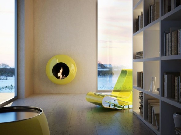 Wall B Fireplace from Antrax IT