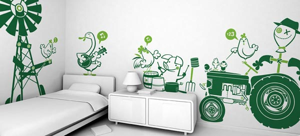 giant wall stickers sets underwater world