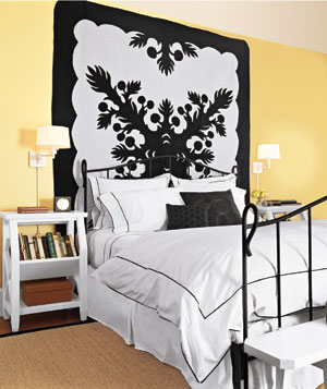 DIY Artwork yellow bedroom