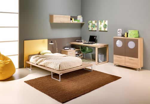 Kids Bedroom Decorating With Brown Colors