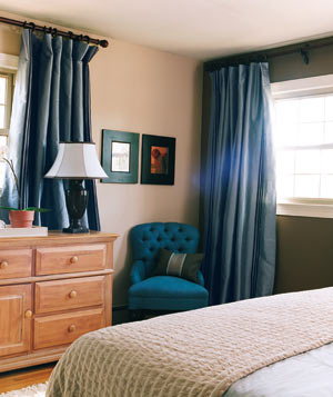 blue chair bedroom Reinvent Your Safe Haven