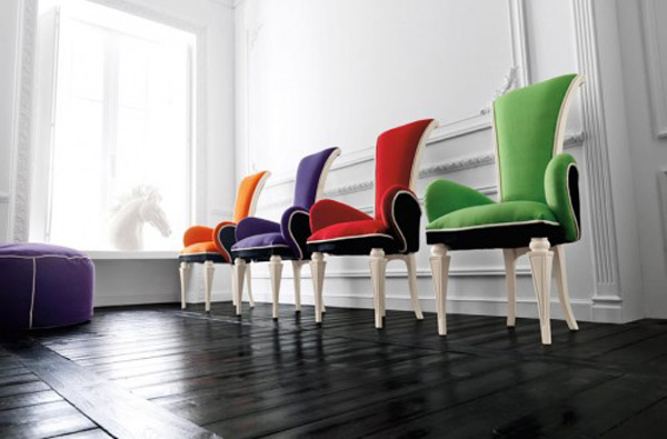 colorful chairs furniture in interior design