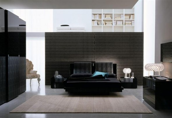 unusual bedroom design ideas black