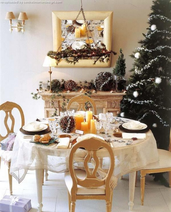 decorating the Christmas table ideas1