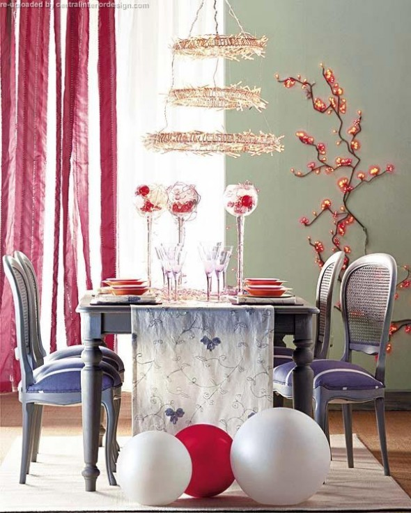 decorating the Christmas table ideas13