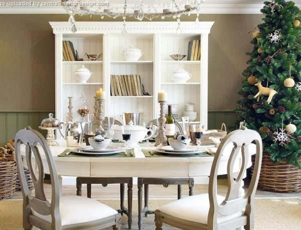decorating the Christmas table ideas15
