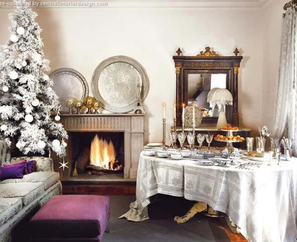 decorating the Christmas table ideas16