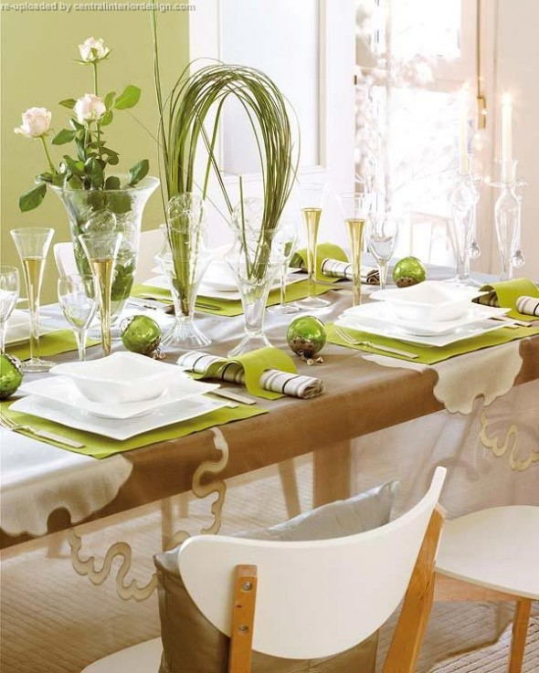 decorating the Christmas table ideas2
