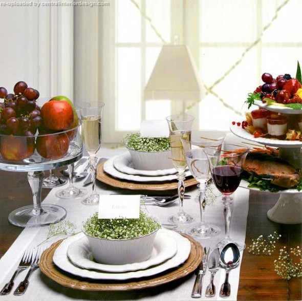 decorating the Christmas table ideas5