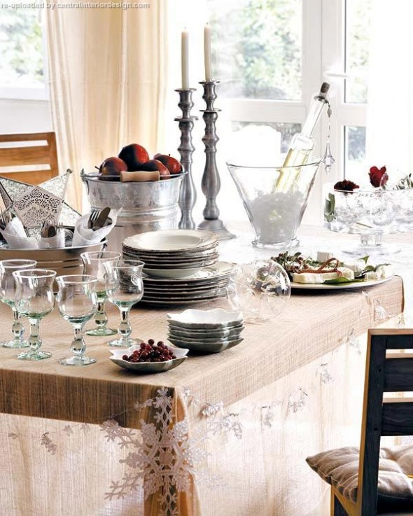 decorating the Christmas table ideas9