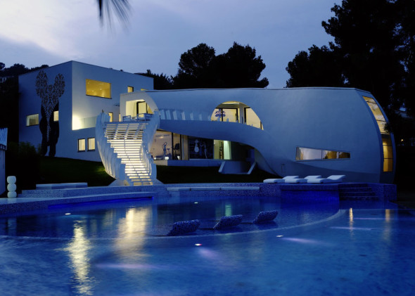 Modern Luxury Villa Design Nightview