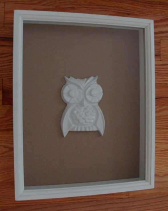 Owl Art After - Treasure Furniture from Your Trash