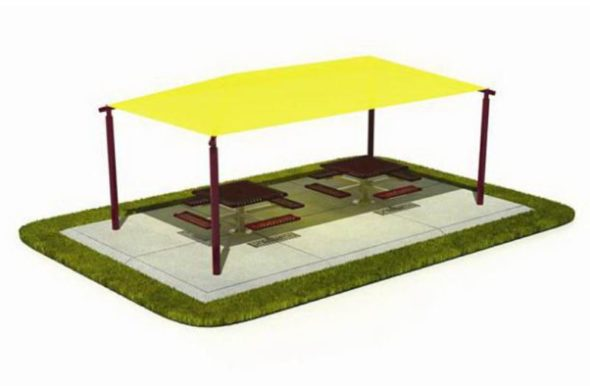 Large Size Shade for Two Picnic Table Sets
