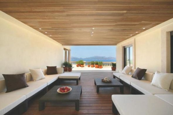 Luxury Villa Design Seating Area
