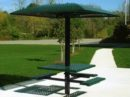 Pedestal Picnic Set with Sun Shade