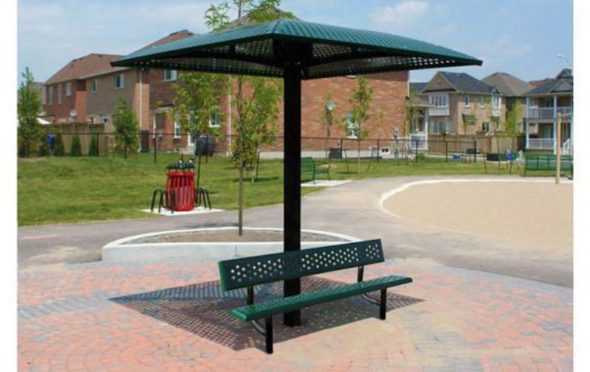 Single Pedestal Outdoor Shade Structure