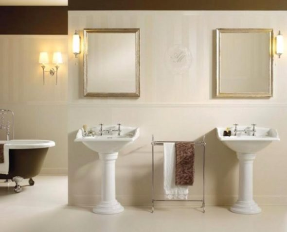 Well Lit Twin Vanity with Mirrors